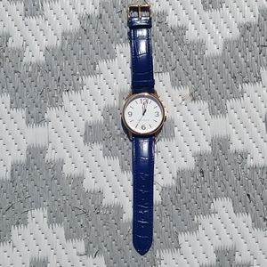 Tommy Hillfiger leather strap rose gold watch
